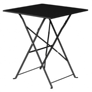 Bolero Black Pavement Style Steel Table Square