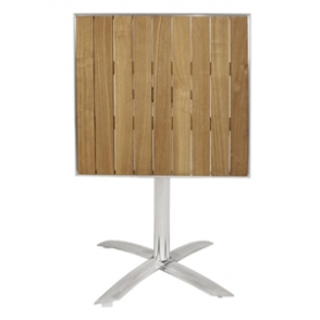 Bolero Flip Top Bistro Table Square Ash 600mm