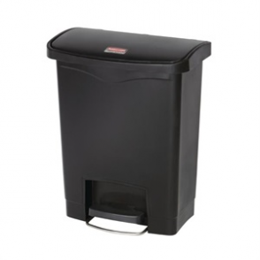 Rubbermaid Slim Step on Front Pedal Black 30Ltr