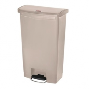 Rubbermaid Slim Step on End Pedal Beige 70Ltr
