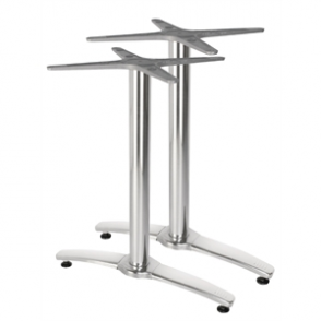 Bolero Aluminium Twin Leg Table Base