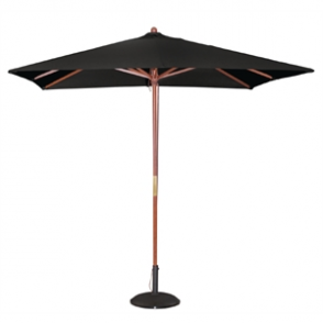 Bolero Square Double Pulley Parasol 2.5m Wide Black
