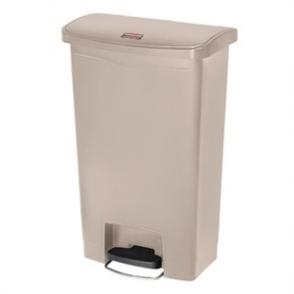 Rubbermaid Slim Step on Front Pedal Beige 90Ltr