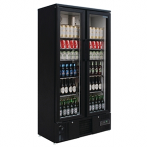 Polar Upright Back Bar Cooler Double Hinged Door