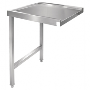 Vogue Pass Through Dishwash Table Left 1100mm