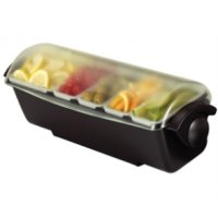 San Jamar Dome Garnish Centre 1 x 2.2 litre deep tray, 4 x 0.55 litre standard