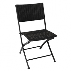 Bolero PE Wicker Folding Chairs (Pack of 2)
