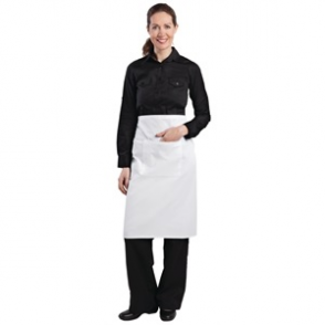 Regular Bistro Apron White
