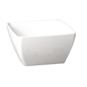 APS Pure Melamine White Square Mini Bowl