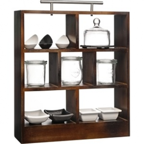 APS Hevea Wood Tea Rack