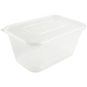 Plastic Microwave Container (Box 250) Large 1000ml