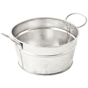 Olympia Mini Metal Food Bucket Shallow 150mm