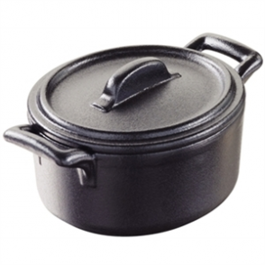 Revol Miniature Belle Cuisine Cocottes With Lids Black 75mm (Box 6)
