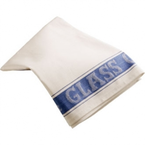 Glass Cloth Linen Union Blue Border - 76x51cm