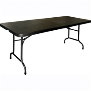 Bolero Centre Folding Black Table - 6ft Long