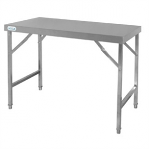 Vogue St/St Folding Table - 1200x600x900mm