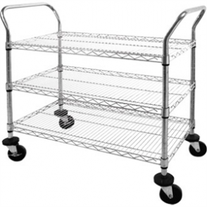 Vogue 3 tier Chrome Wire Trolley - 910x457x960mm
