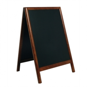 Duplo A-Board Dark Wood - 550x850mm