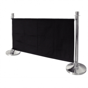 Bolero Black Banner with St/St Fixings