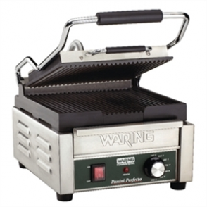 Waring Single Panini Grill WPG150K Ribbed Plates