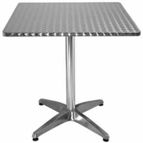 Bolero Bistro Table Square St/St - 70cm