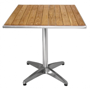 Bolero Bistro Table Square Ash - 70cm