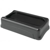 Rubbermaid Slim Jim Untouchable Top Grey