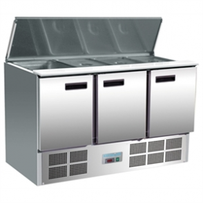 Polar Refrigerated 3 Door Saladette Counter (M)