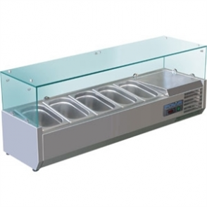 Polar Refrigerated Counter Top Prep/Servery 1500mm 7 GN 1/4 (M)