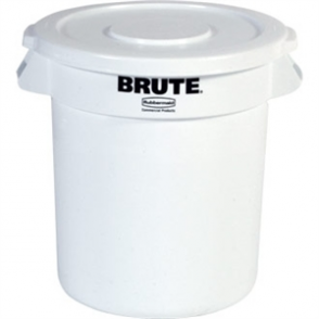 Rubbermaid Round Brute Container White 37.8Ltr