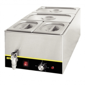 Buffalo Bain Marie with Tap & Pans