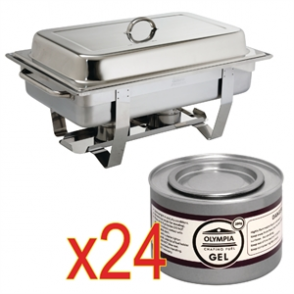 Sale Offer : Milan Chafer Set GN - 1/1 with 24 Gel Fuel Tins