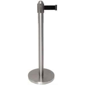 Bolero St/St Retractable Barrier with Black Ribbon