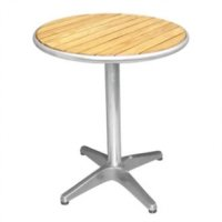 Bolero Ash Top Round 60cm Bistro Table with Alu Rim & Pretreated top 3kg base