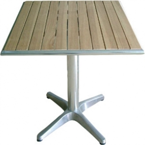 Bolero 60cm Square Ash Table with Aluminium Rim & Pretreated top 3kg base