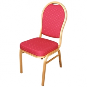 Bolero Banqueting Chair Arched Back Gold Frame Red Speckle Cloth (Pack 4)