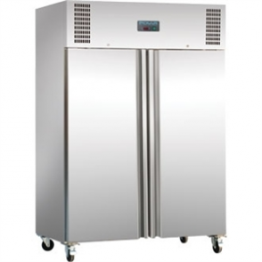 Polar Double Solid Door Fridge