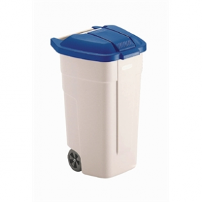 Rubbermaid Mobile Container 100Ltr Blue Lid