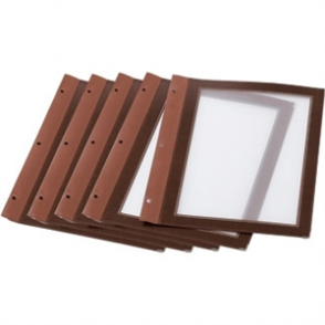 Menu Holder Inserts - Brown A4 Inserts. Pack quantity 5