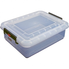 Araven Food Storage Box and Lid with Colour Clips 40ltr