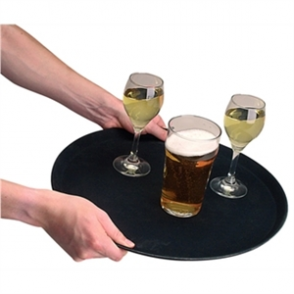 "Round Anti-Slip Tray Fibreglass (16"") diameter."
