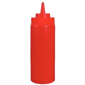 Vogue Red Squeeze Sauce Bottle 12oz