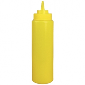 Vogue Yellow Squeeze Sauce Bottle 24oz