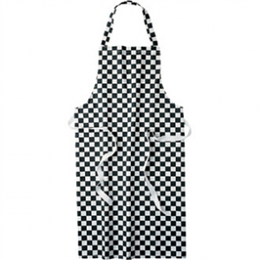 Bib Apron (Black & White Check)