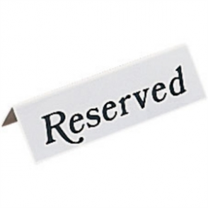 Plastic Table Sign - Reserved