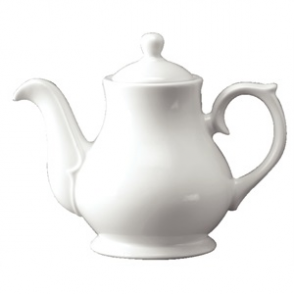 White Sandringham Tea/Coffee Pot 4cup 30oz (Box 4)