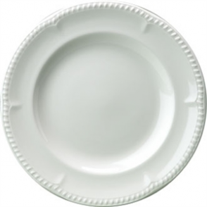 Buckingham White Plate 185mm (Box 24)