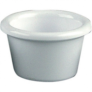 Kristallon Melamine Plain Ramekins White 63mm (Box 12)