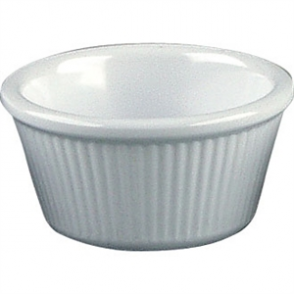 Kristallon Melamine Fluted Ramekins White 89mm (Box 12)