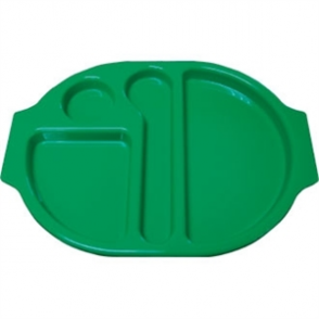Food Compartment Trays Standard. Pack quantity: 10. Green
